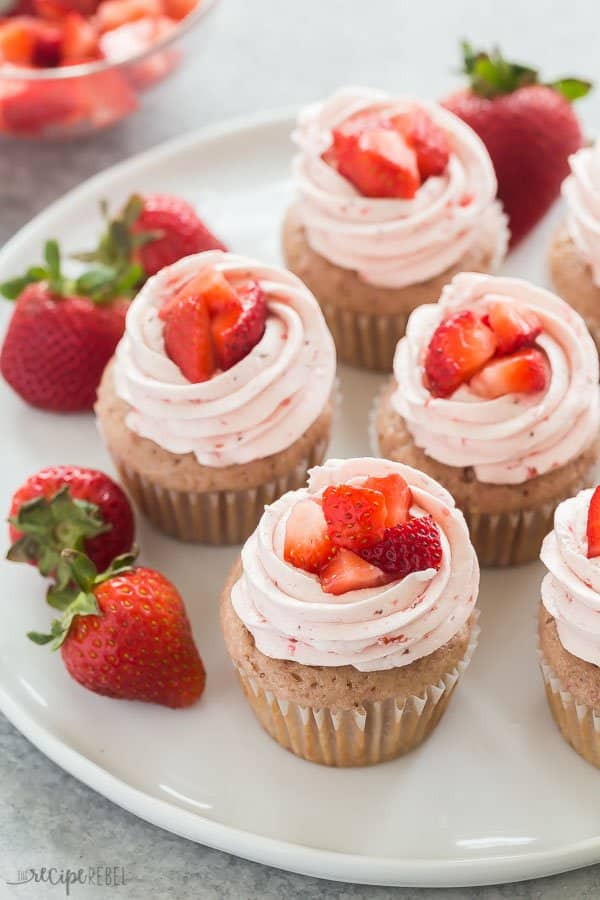 Healthy Strawberry Cupcakes  The BEST Strawberry Cupcakes with Strawberry Frosting VIDEO