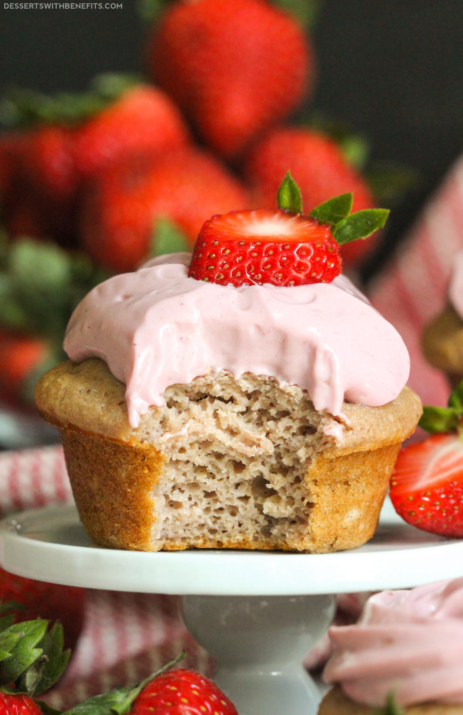 Healthy Strawberry Dessert Recipes  Healthy Strawberry Cupcakes Recipe