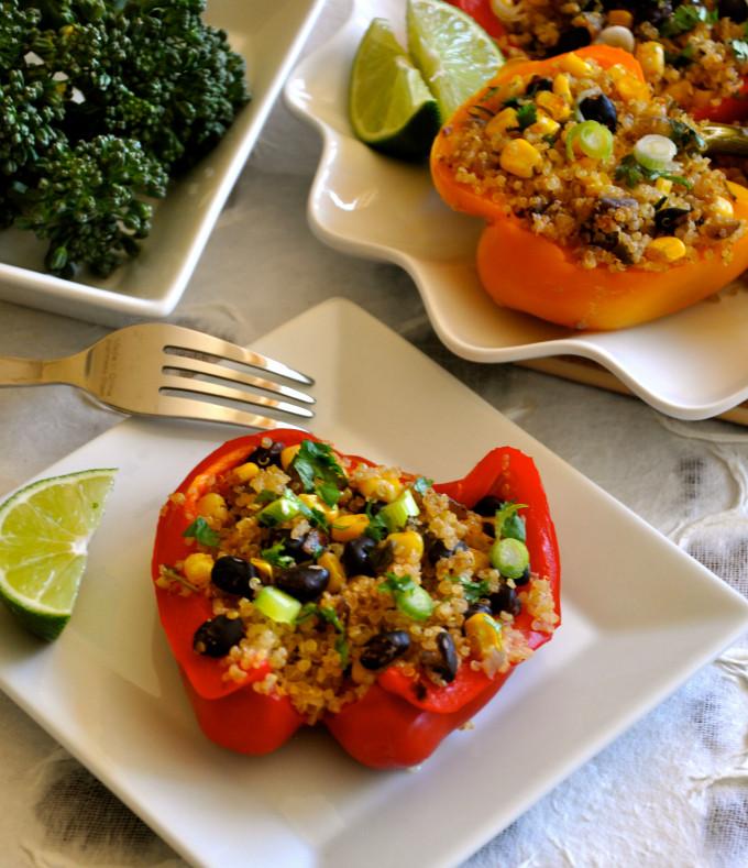 Healthy Stuffed Bell Peppers  Healthy Recipe Southwestern Stuffed Peppers