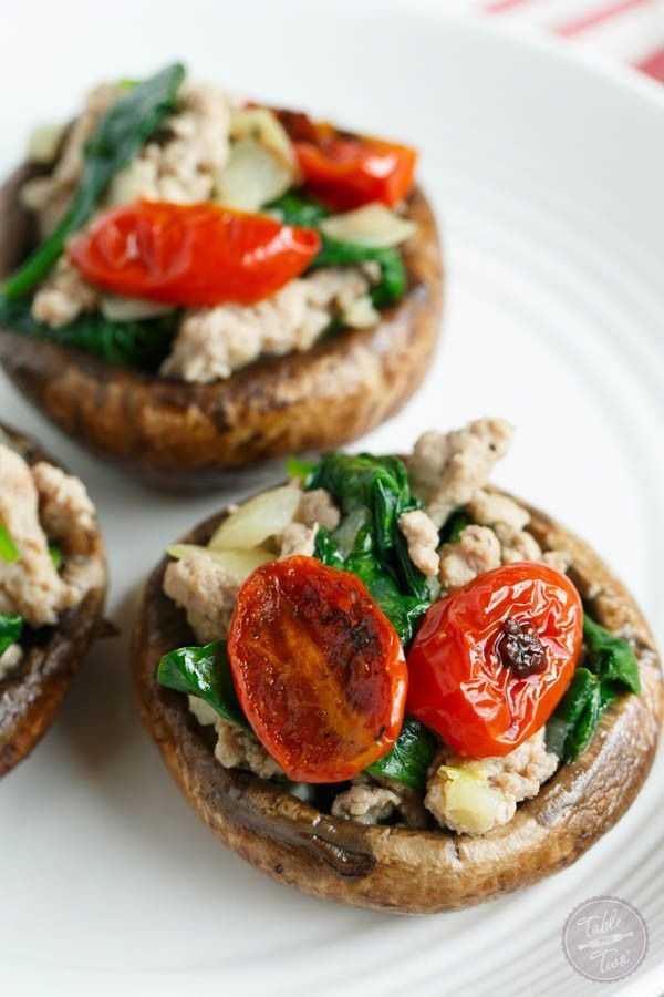 Healthy Stuffed Mushroom Recipe  1000 ideas about Healthy Stuffed Mushrooms on Pinterest