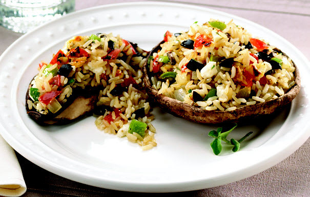 Healthy Stuffed Mushroom Recipe Easy  Mediterranean Stuffed Portobello Mushrooms Recipe