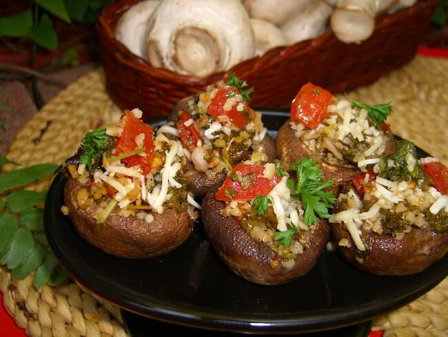 Healthy Stuffed Mushroom Recipe Easy  Holiday Healthy Appetizers Plus a Stuffed Mushroom Recipe