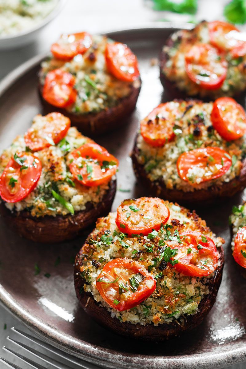 Healthy Stuffed Mushroom Recipe  healthy stuffed portobello mushroom recipes