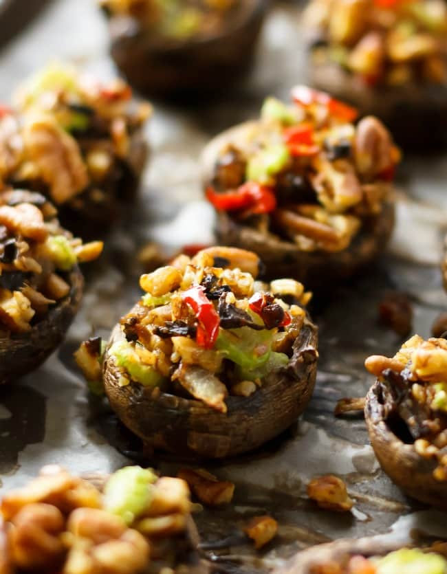 Healthy Stuffed Mushroom Recipe  Vegan Stuffed Portobello Mushrooms