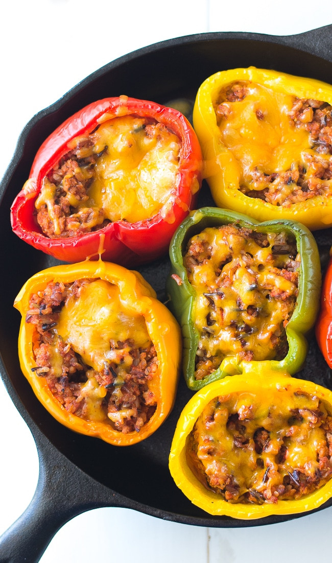 Healthy Stuffed Peppers With Ground Turkey  Ground Turkey Stuffed Peppers