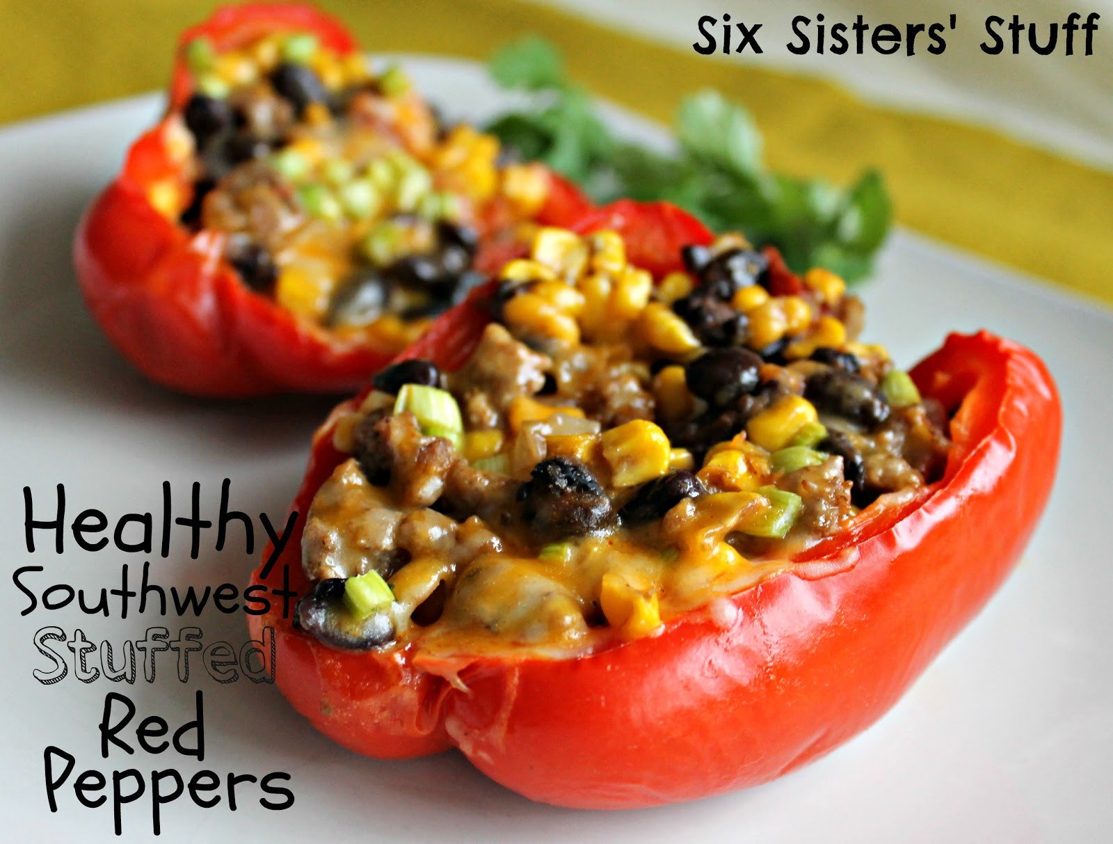 Healthy Stuffed Peppers With Ground Turkey  How to Eat Healthy on a Bud plus 25 inexpensive