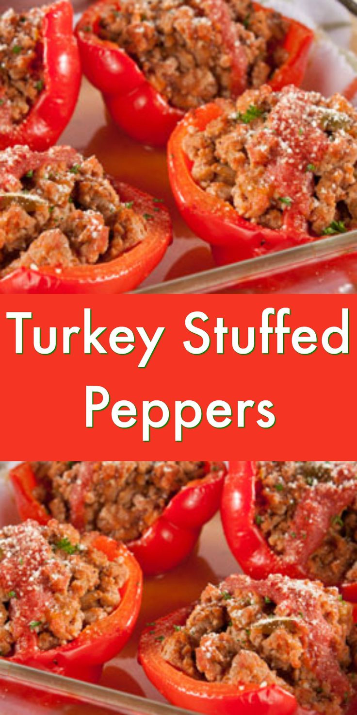 Healthy Stuffed Peppers With Ground Turkey  The 25 best Turkey stuffed peppers ideas on Pinterest