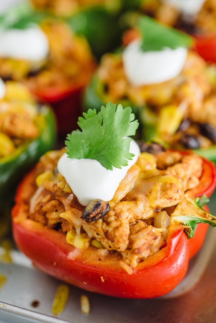 Healthy Stuffed Peppers With Ground Turkey  Healthy Southwestern Stuffed Peppers Everyday Good Thinking