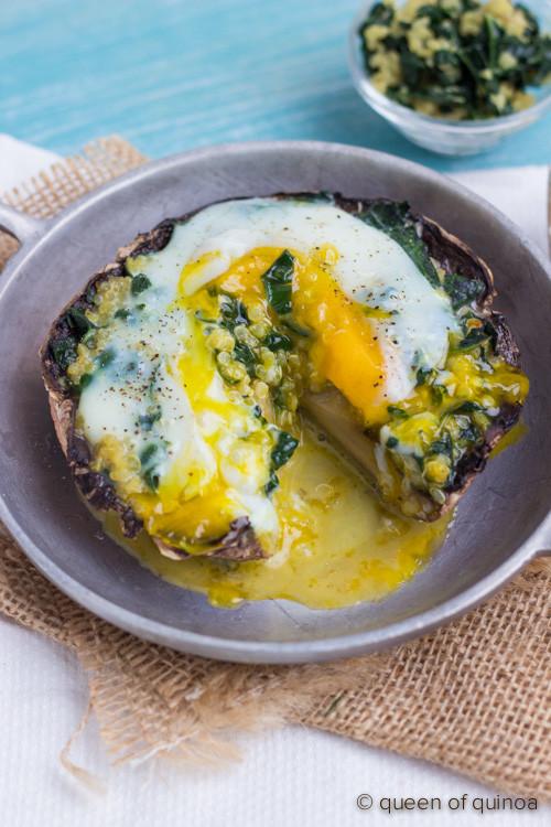 Healthy Stuffed Portobello Mushroom Recipes  stuffed portobello breakfast mushrooms guest post