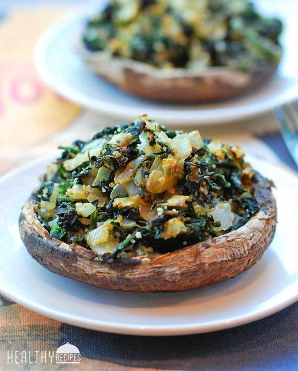 Healthy Stuffed Portobello Mushrooms  Spinach Stuffed Portobello Mushrooms Recipe