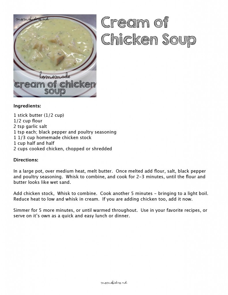 Healthy Substitute For Cream Of Chicken Soup  cream of chicken soup substitute