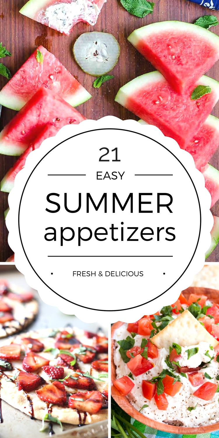 Healthy Summer Appetizers  Easy Summer Appetizers