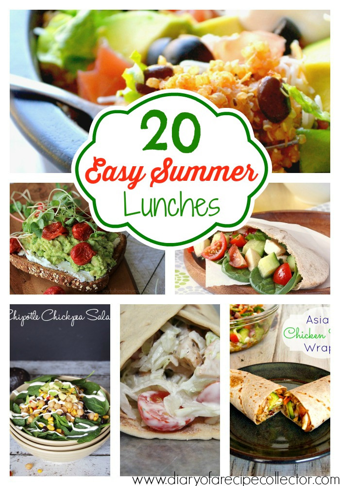Healthy Summer Lunches  Easy Summer Lunch Ideas Diary of A Recipe Collector