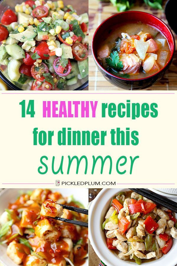 Healthy Summer Recipes For Dinner  246 best Summer Food images on Pinterest
