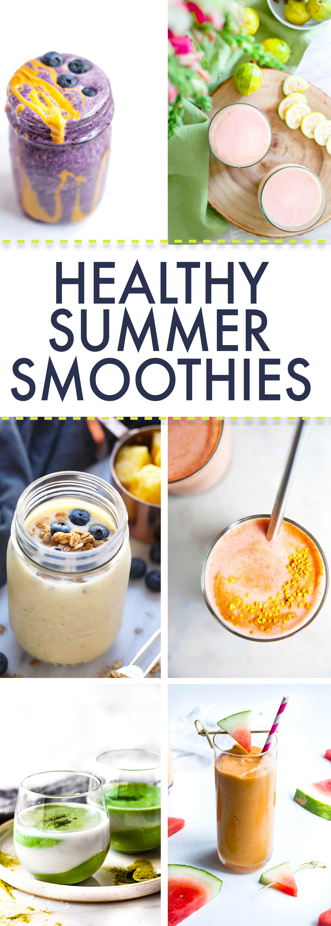 Healthy Summer Smoothies  Creamy Coconut Spirulina Superfood Smoothie Recipe
