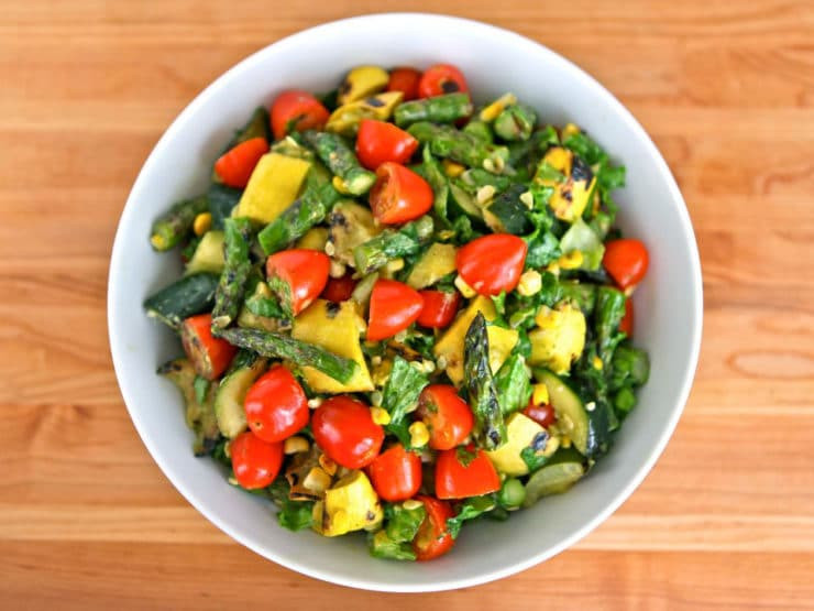 Healthy Summer Vegetarian Recipes  Grilled Ve able Salad Delicious Summer Salad