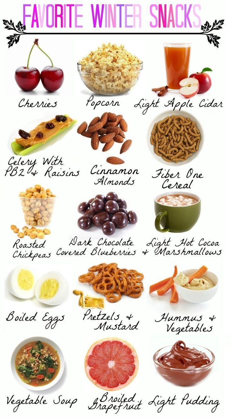 Healthy Supermarket Snacks  Winter Snack Ideas