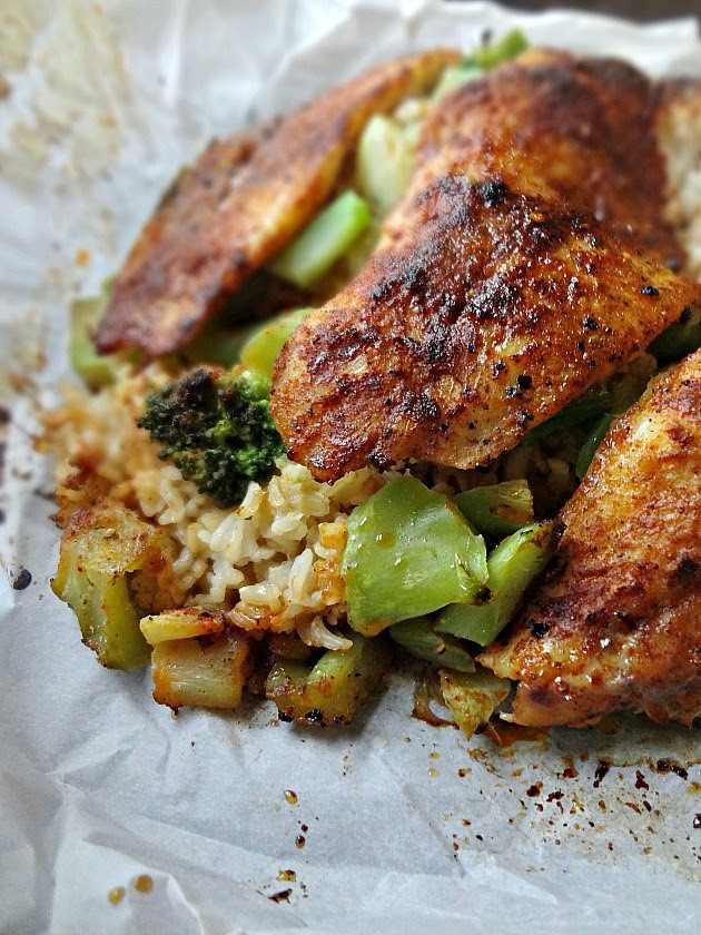 Healthy Swai Fish Recipes  The Cooking Actress Swai Rice and Broccoli in Parchment