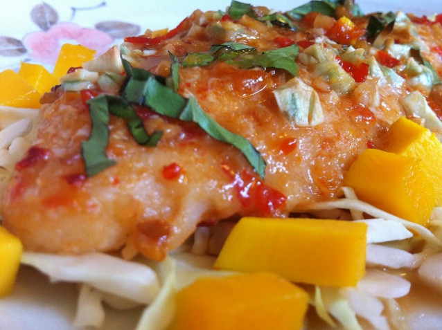 Healthy Swai Fish Recipes  Garlic Asian Glazed Swai Fillet with Fresh Mango Cooking