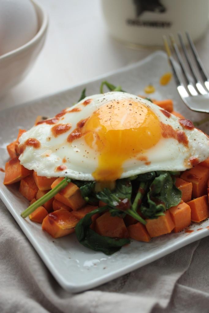 Healthy Sweet Breakfast  Easy & Healthy Sweet Potato Spinach Breakfast Hash