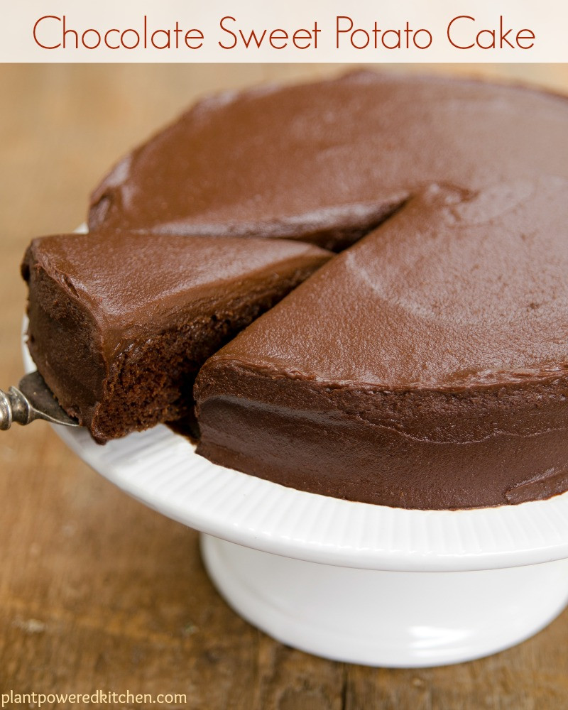Healthy Sweet Potato Dessert  Sweet Potato Chocolate Cake with Chocolate Frosting vegan