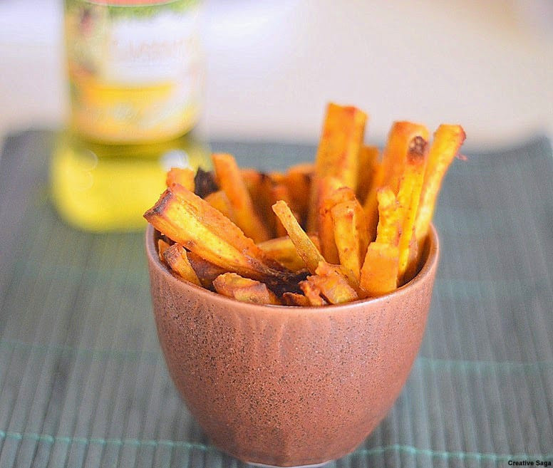 Healthy Sweet Potato Fries  Baked sweet potato fries healthy snack for kids Recipe