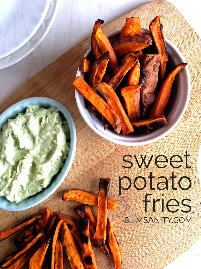 Healthy Sweet Potato Fries  Healthy Sweet Potato Fries Slim Sanity