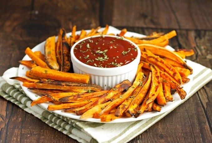 Healthy Sweet Potato Fries  Healthy Baked Sweet Potato Fries 2teaspoons