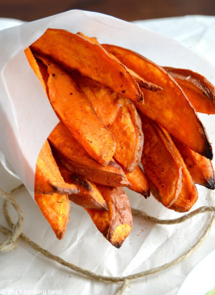 Healthy Sweet Potato Fries  Healthy Sweet Potato Fries with Avocado Dip — Del s