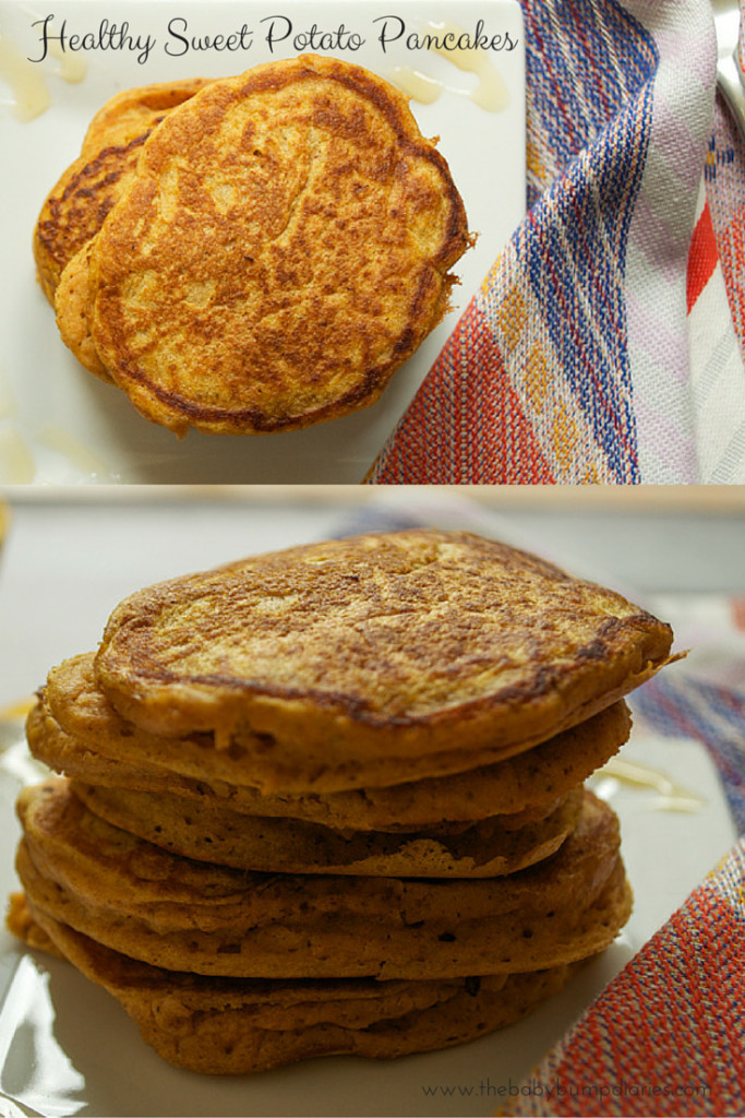 Healthy Sweet Potato Pancakes  Healthy Sweet Potato Pancakes The Baby Bump Diaries