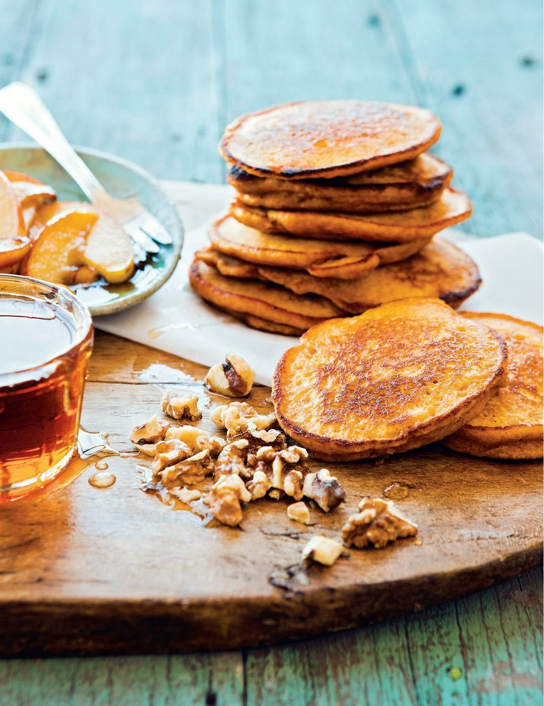 Healthy Sweet Potato Pancakes  Super Healthy Sweet Potato Pancakes with Walnuts
