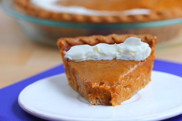 Healthy Sweet Potato Pie  Healthy Sweet Potato Pie with homemade pie crust