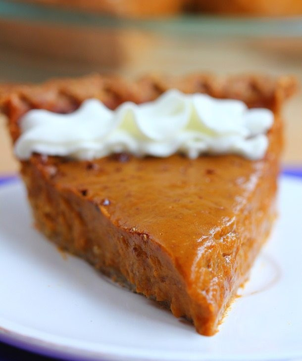 Healthy Sweet Potato Pie Recipe  Healthy Sweet Potato Pie with homemade pie crust