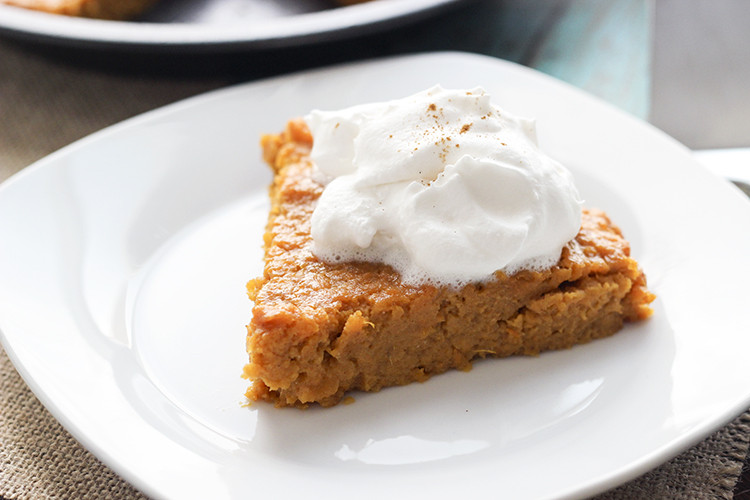Healthy Sweet Potato Pie Recipe  Crustless Sweet Potato Pie Skinny Mom