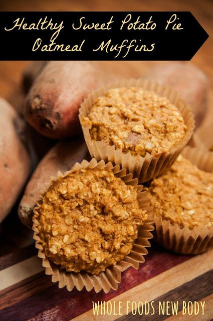 Healthy Sweet Potato Pie  Healthy Sweet Potato Pie Oatmeal Muffins