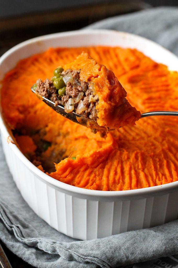 Healthy Sweet Potato Shepherd'S Pie  Sweet Potato Bison Shepherd s Pie Recipe Cookin Canuck