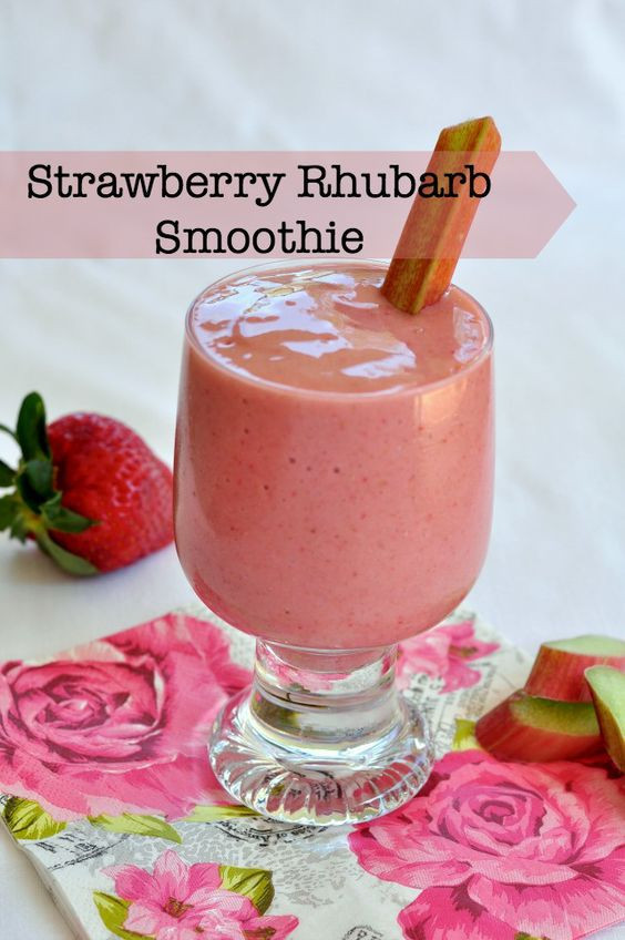 Healthy Sweet Smoothies  Strawberry Rhubarb Smoothie Recipe