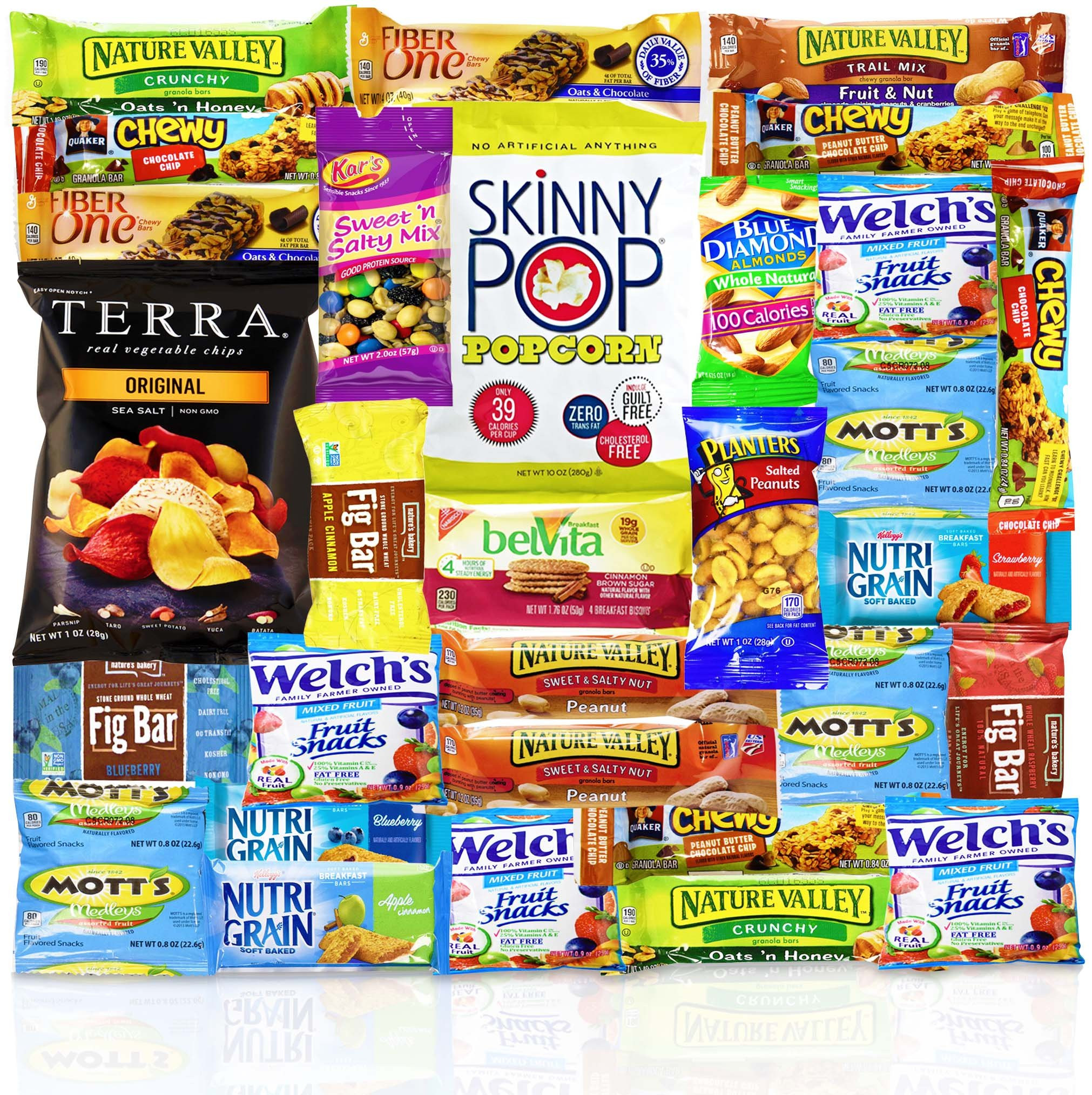 Healthy Sweet Snacks To Buy  Blue Ribbon Care Package 45 Count Ultimate Sampler Mixed