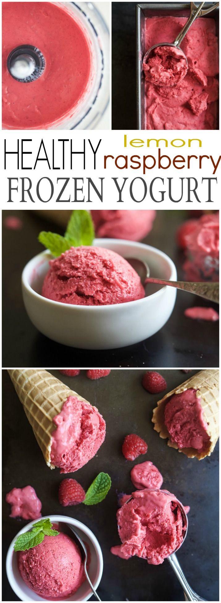 Healthy Sweet Snacks To Buy  Healthy Lemon Raspberry Frozen Yogurt Recipe