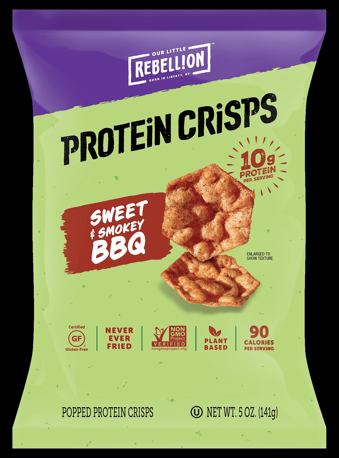 Healthy Sweet Snacks To Buy  Sweet & Smokey BBQ Protein Crisps