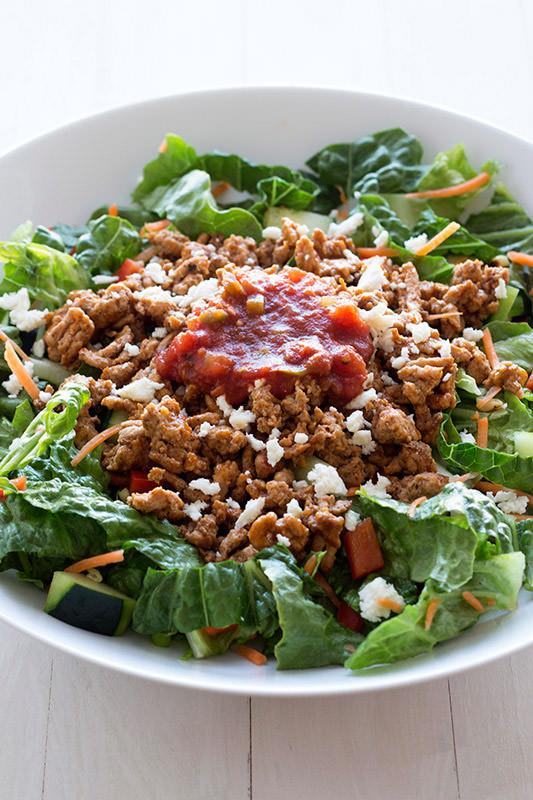 Healthy Taco Salad With Ground Turkey  Healthy Turkey Taco Salad