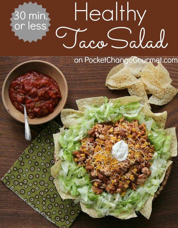 Healthy Taco Salad With Ground Turkey  ground turkey salad healthy