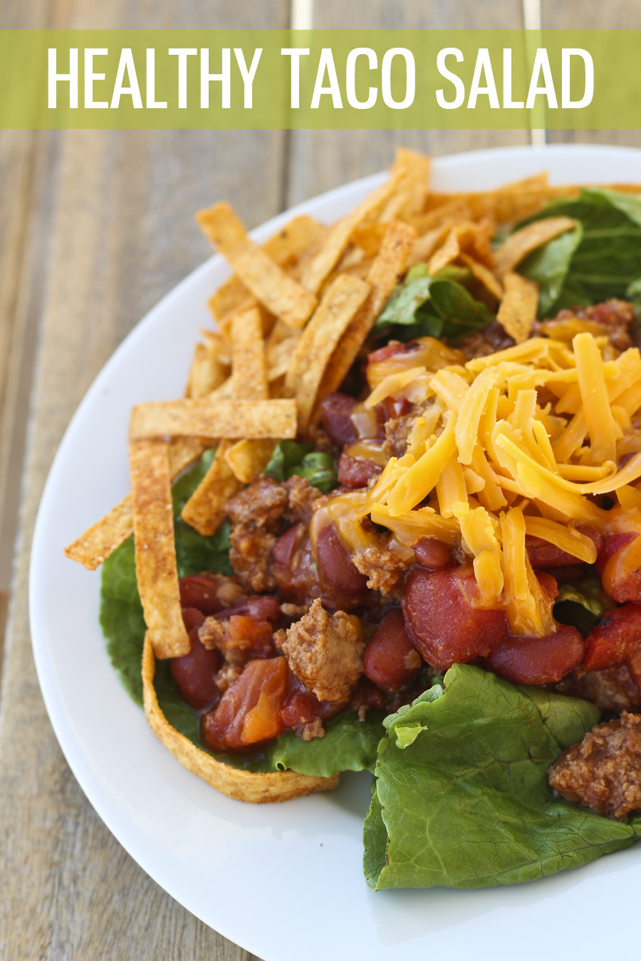 Healthy Taco Salad With Ground Turkey  Low Carb Turkey Taco Salad HoneyBear Lane