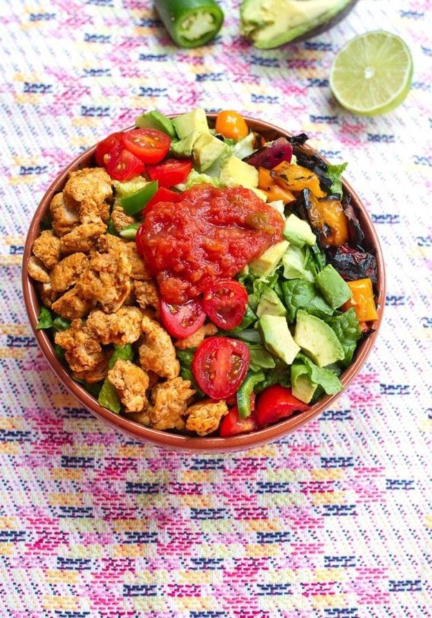Healthy Taco Salad With Ground Turkey  Clean Eating Turkey Taco Salad