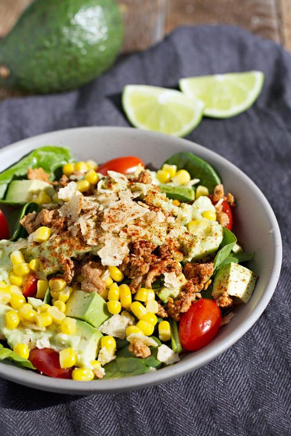 Healthy Taco Salad With Ground Turkey  Chili Lime Ground Turkey Taco Salad Jar Lemons