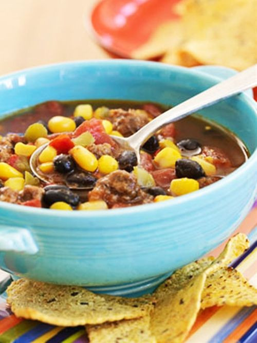 Healthy Taco Soup With Ground Beef  19 best images about Yum Soups on Pinterest