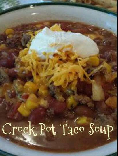 Healthy Taco Soup With Ground Beef  Crock Pot Taco Soup