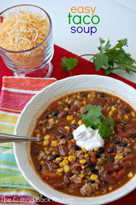 Healthy Taco Soup With Ground Beef  Easy Taco Soup