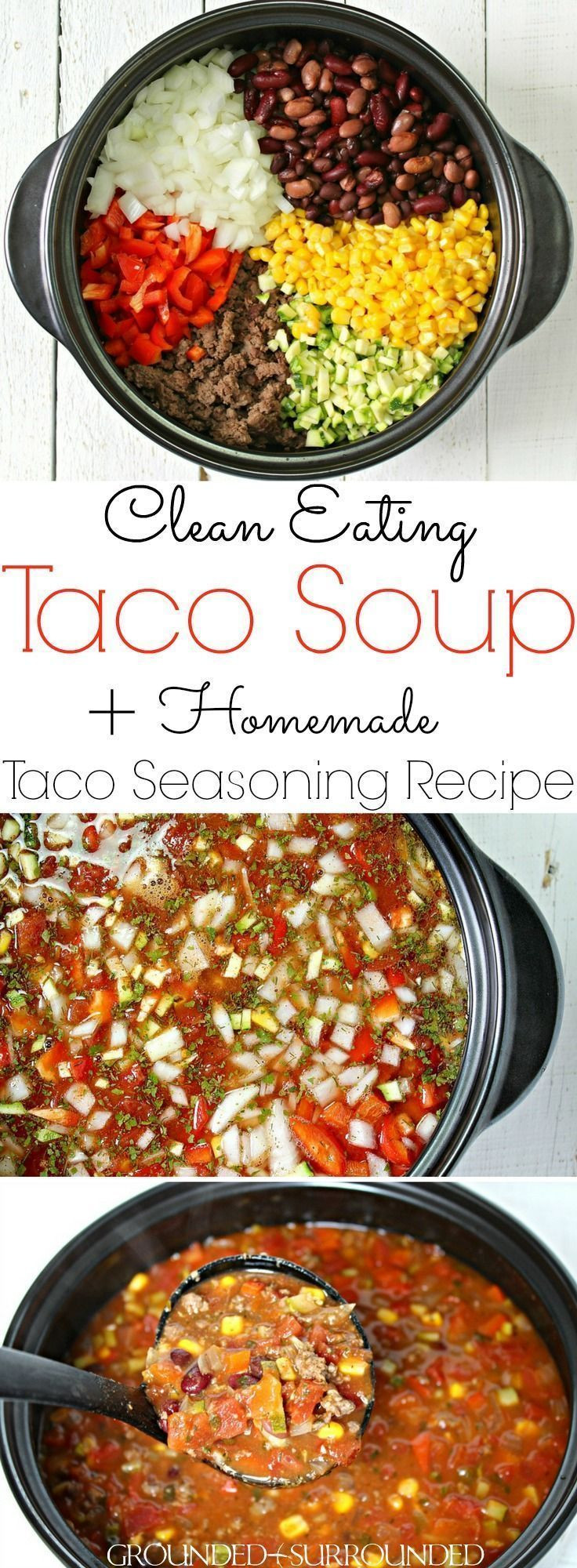Healthy Taco Soup With Ground Beef  Taco Soup Opskrift