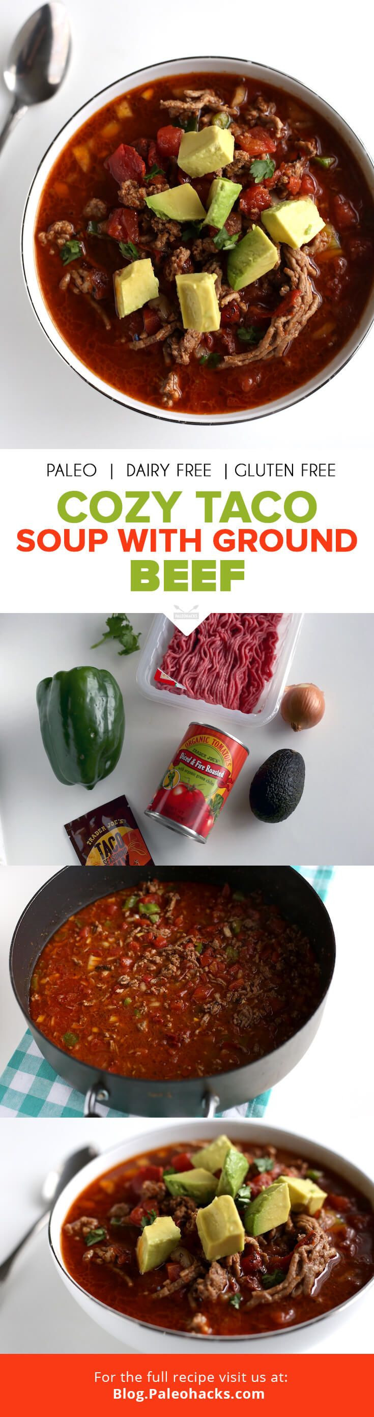 Healthy Taco Soup With Ground Beef  Cozy Taco Soup with Ground Beef